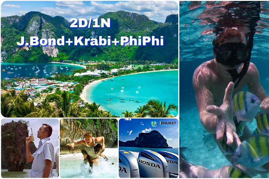 11 Islands 2D/1N - J.Bond + Krabi + Phi Phi Deluxe Tour by Speed Boat