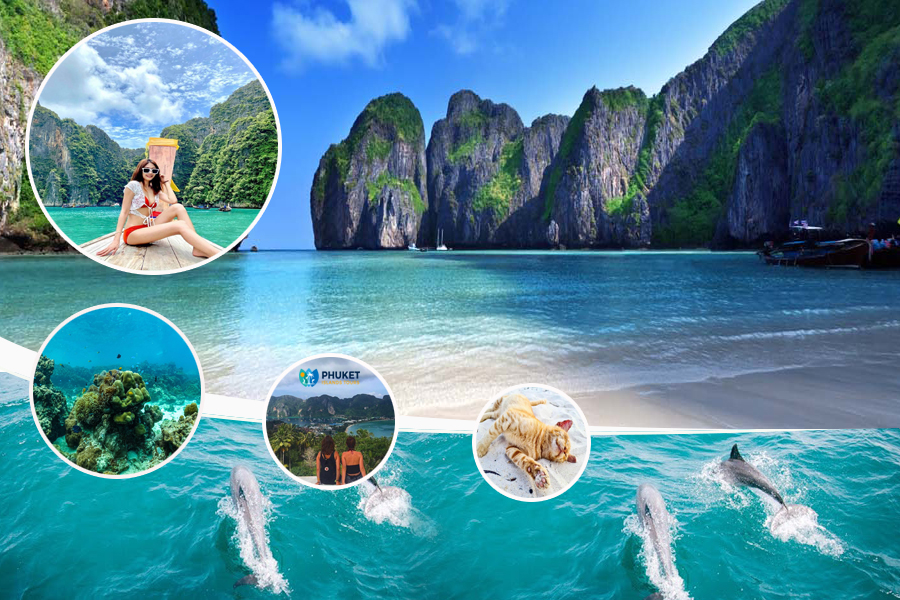 Maithon + Phi Phi + Khai Islands Deluxe  Tour by Speed Boat